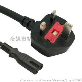 BS注塑式插头电源线英式插头线