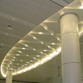 门头包柱弧形冲孔包柱铝单板 绿色环保【一站式销售】