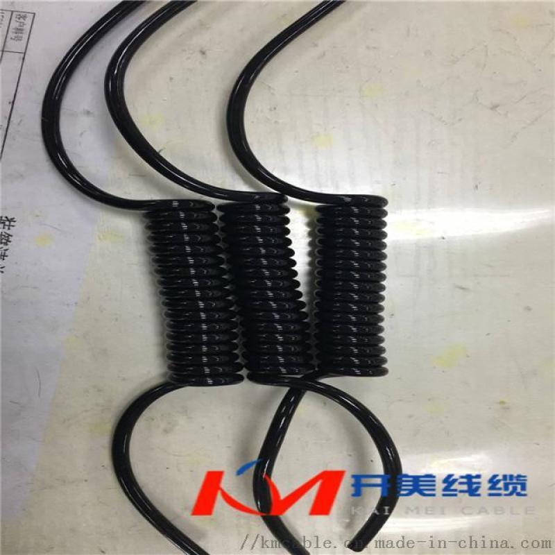 凯芙拉丝弹簧电缆 4芯螺旋电缆,电动工具卷线