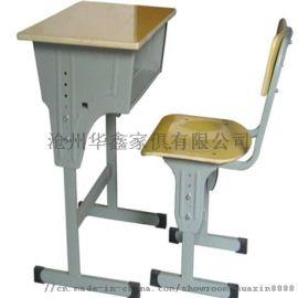 普通教室多层板桌面手摇升降课桌椅
