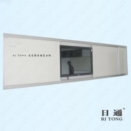 日通掛牆平面磁性白板 推拉組合升降白板 教學白板綠板