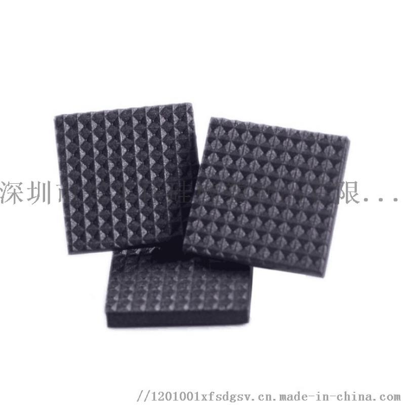 定制EVA脚垫黑白网格硅胶垫 圆形橡胶家具垫