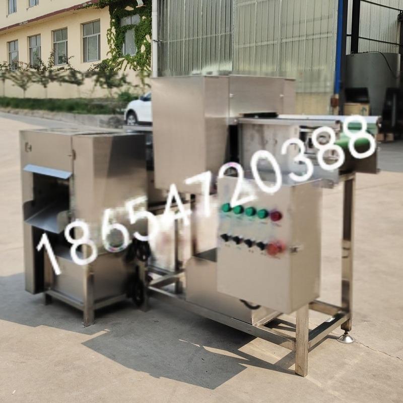 马肠专用鲜肉切块机可定制不锈钢输送带式鲜猪肉切丁机