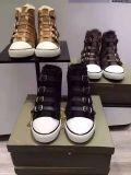 新款羊皮毛一體休閒鞋真皮搭帶球鞋四重搭帶女冬款坡跟鞋內增高棉