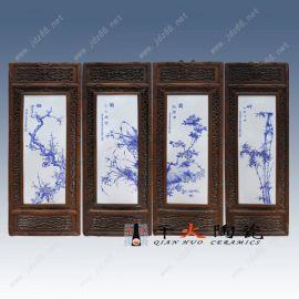 青花山水瓷板厂家,瓷板画生产厂家