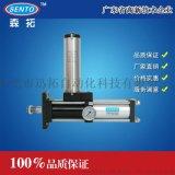 中间定位型气液增压缸