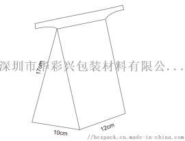 西湖龙井茶包装袋 梯形龙井茶叶夹口包装