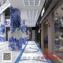 复杂3D彩色打印铝单板-大幅背景墙3D彩色铝单板