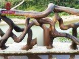 四川栏杆厂家,公园湖边仿木纹防护栏定制