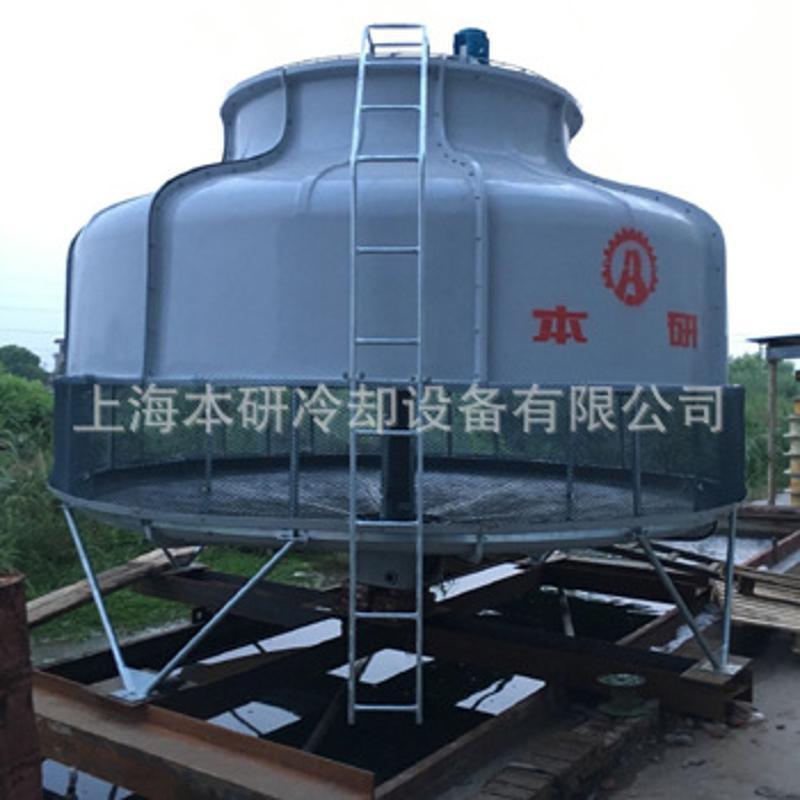 厂家直销工业用纤维圆形冷却塔 大小型玻璃钢闭式逆流冷却塔