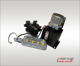 48V1000W无刷电机电动环卫车液压动力单元