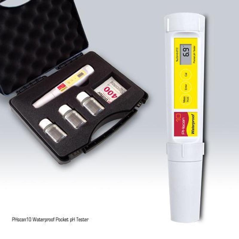 ph酸鹼度筆ph計帶自動溫補 水質檢測工具PHscan10S