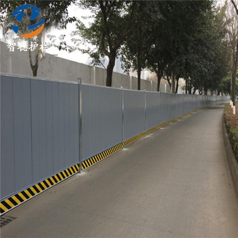 现货新型镀锌板公路市政隔离施工围挡 建筑工地铁皮彩钢围挡护栏