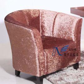 沙发定制/酒店沙发/单人沙发/布艺单人沙发