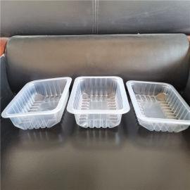 pp气调锁鲜塑料盒 鸭货周黑鸭熟食塑料盒