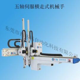 广州自动化机械手 注塑机五轴伺服高速横走式机械手