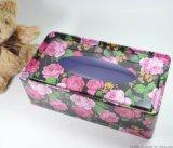 馬口鐵抽紙盒 車載紙巾罐 開窗鐵盒 馬口鐵長方禮品罐