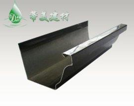 厂家供应北京别墅用蒂美铝合金屋檐排水檐沟檐槽,铝合金屋檐排水管,厂家直销