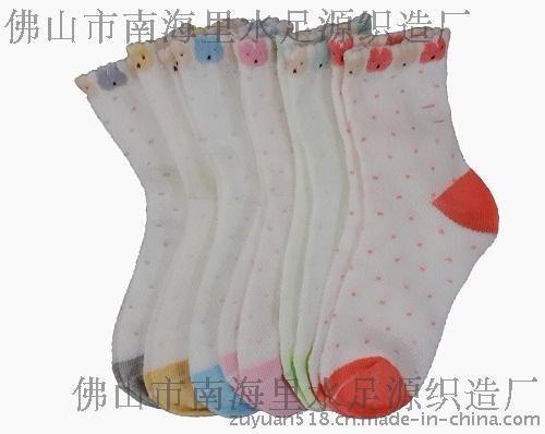 秋冬花边短筒袜 短筒儿童袜子纯色可爱百搭花边秋冬款
