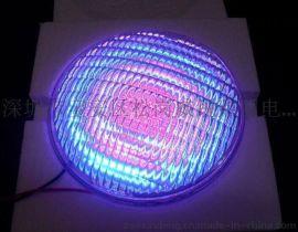 工厂直销 36W不锈钢PAR56灯杯 RGB七彩变色带遥控泳池灯LED大功率