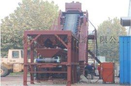 中国鸿达大型移动式混凝土搅拌站YHZS100