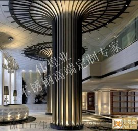 大堂不锈钢包柱黑钛不锈钢立柱装饰