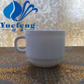【厂家直销】咖啡杯KFB-250 乳白耐热钢化玻璃 咖啡杯套装