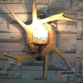 爆款热卖美式复古乡村玛斯欧MS-W2006云石玻璃单头E14光源 欧式客厅酒店吧台酒吧等装饰墙壁壁灯