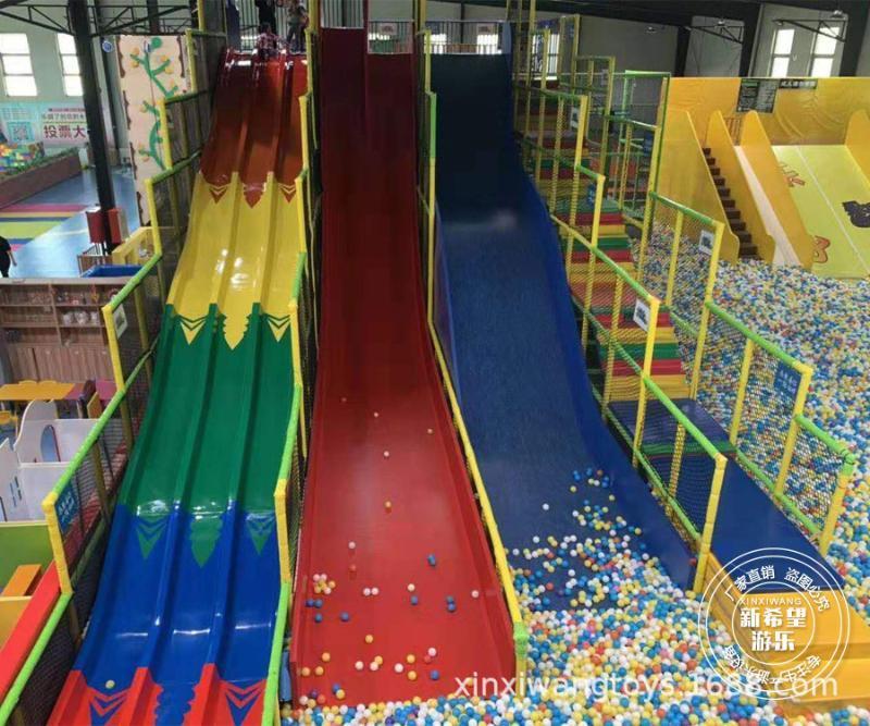 淘氣堡魔鬼滑梯彩虹波浪滑梯 室內大型蹦牀公園設備 兒童拓展樂園