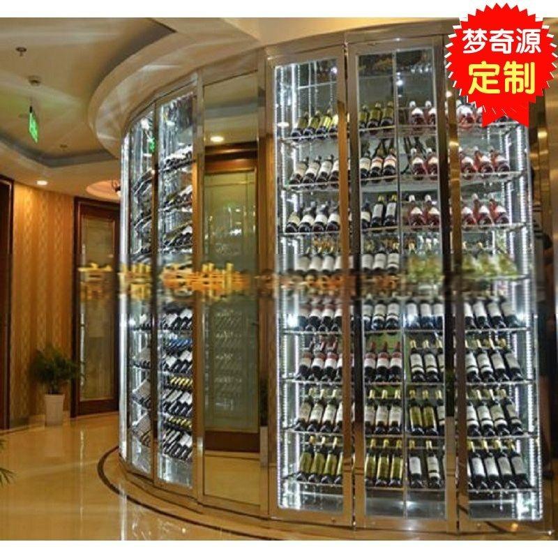 不鏽鋼洋酒架 恆溫紅酒櫃 恆溫恆溼酒窖 不鏽鋼酒架加工廠家