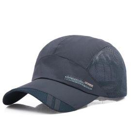 速干帽子男士夏天潮休闲网眼透气棒球帽中年遮阳太阳帽户外鴨舌帽