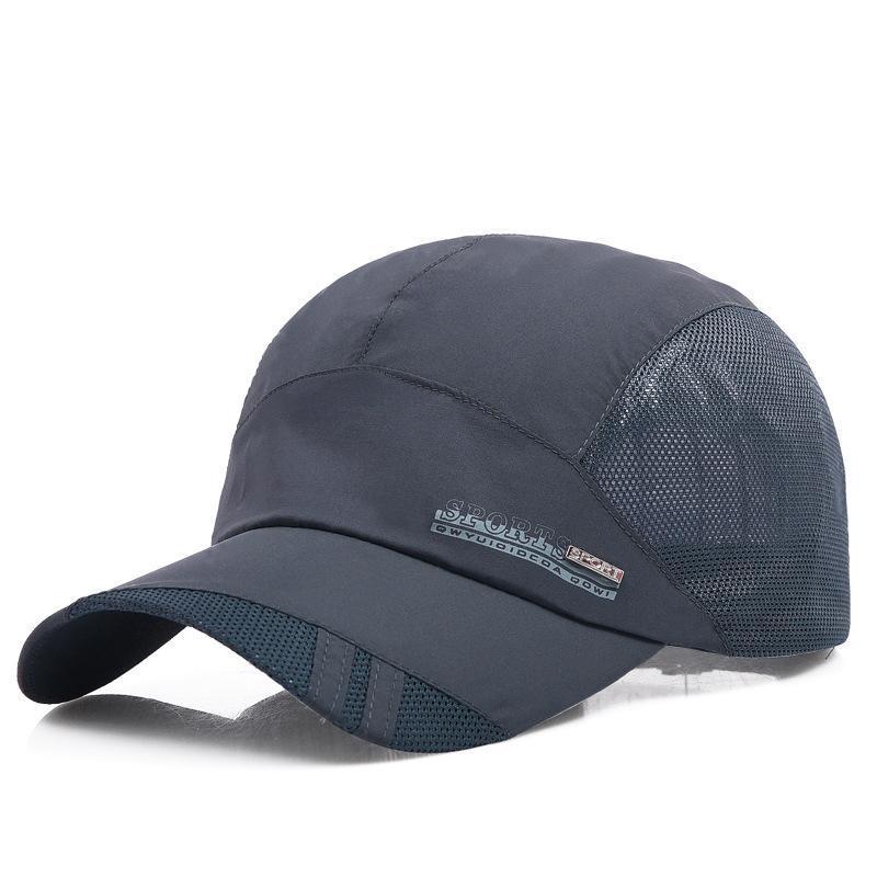 速幹帽子男士夏天潮休閒網眼透氣棒球帽中年遮陽太陽帽戶外鴨舌帽