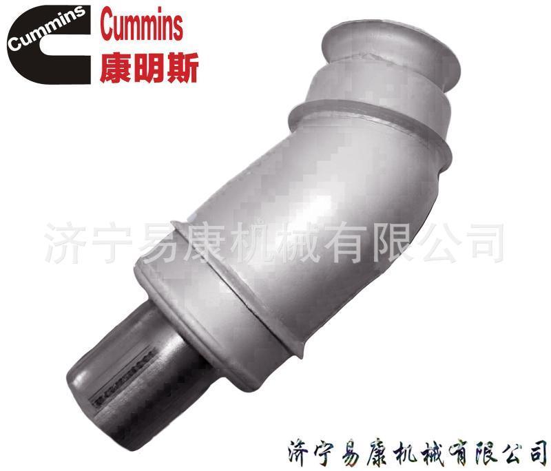 康明斯QSX12排气管 发动机增压器安装