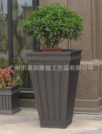 广东生产玻璃钢大花盆长方形