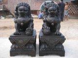 树林铜雕塑工艺品, 高80公分铸铜故宫狮子