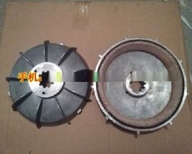 YEZ132S-4锥形转子电机刹车风叶制动轮 3.0/4.5/5.5kw电机刹车盘 适用搅拌机起重机