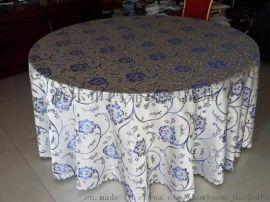 新品上市餐厅布草 提花台布 餐厅婚庆椅套 桌布椅套定制
