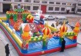 四川广场充气城堡滑梯多种款式造型特别吸引小孩子