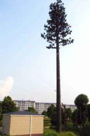 仿真椰子树避雷针塔,15米钢管杆仿生松树避雷针塔