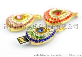 高档电子礼品USB,珠宝USB随身碟,金属材质优盘批发,足量的礼品优盘批发