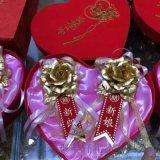 金箔玫瑰胸花结婚季爆销品 金箔礼品 婚礼婚庆礼品
