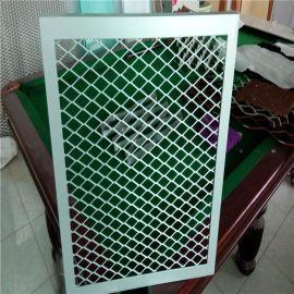 廠價直銷帶框啞光白粉末噴塗斜拉網 裝飾拉伸網