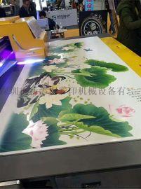精工UV1325瓷砖背景墙彩印机厂家生产喷绘打印设备