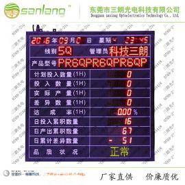 定制开发精密计数统计电子看板 机械设备通讯显示屏