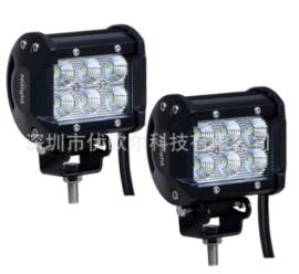 厂家18W 汽车LED工作灯 越野车灯/拖车照灯CREE /LED长条车顶灯