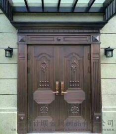 专业定做铜门 别墅铜门