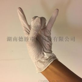 6.0G白色12寸无粉指麻一次性丁腈手套袋装