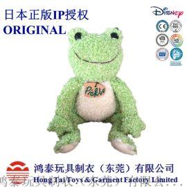 毛绒公仔定制日本正版授权IP大眼青蛙毛绒玩具厂家