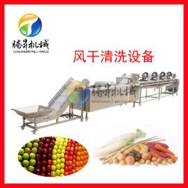 辣椒清洗风干生产线 商用净菜清洗风干设备