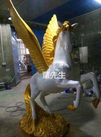 廣東藝石工藝品玻璃鋼動物模擬飛馬